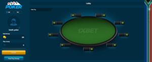 1xbet poker rooms