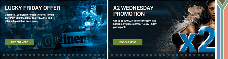 1xbet Wednesday promotion and Lucky Friday
