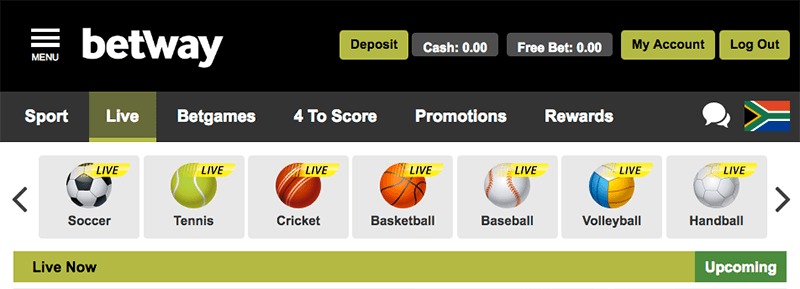 Betway live sports