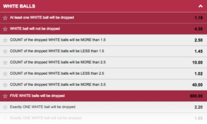 Betway Lucky 5 game example