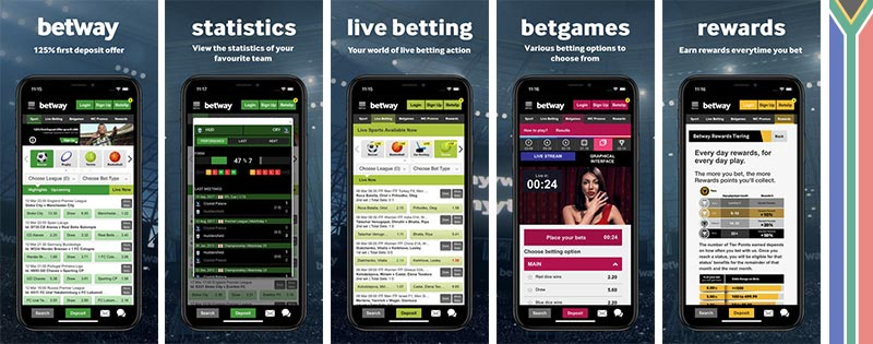 Betway mobile view