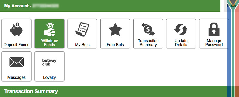 Betway how to withdraw funds