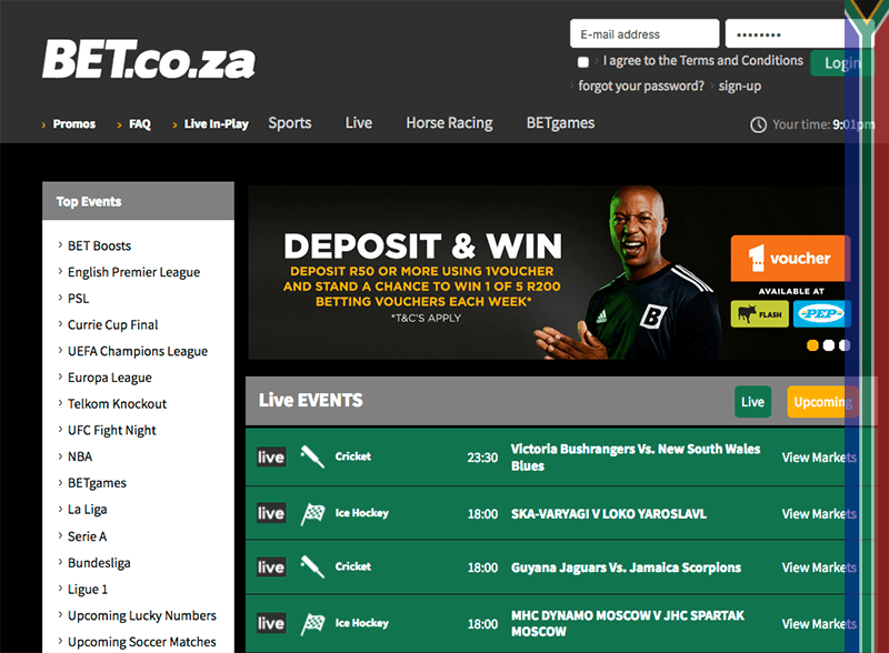 Bet.co.za site