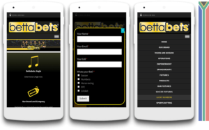Bettabets mobile view