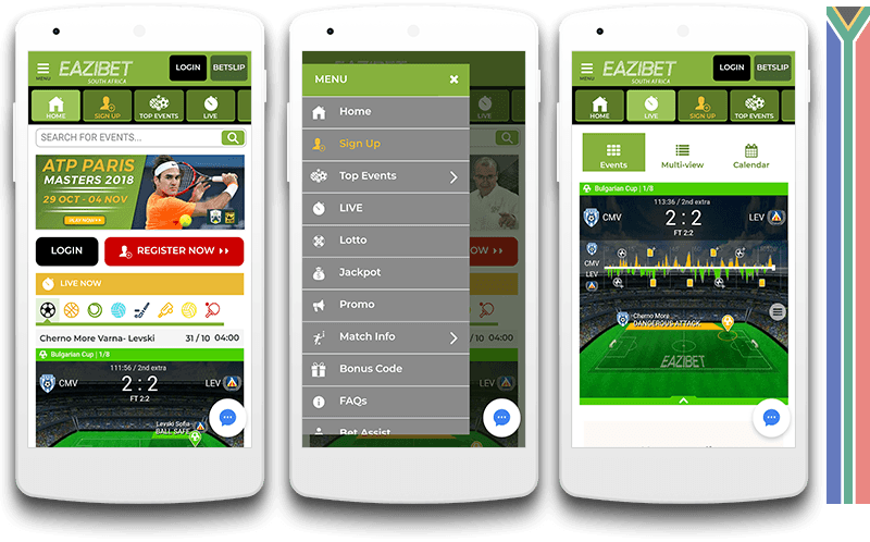 Eazibet mobile view
