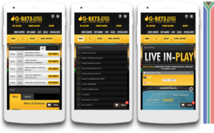 Gbets mobile view