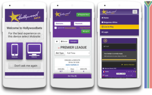 Hollywoodbets mobile mobile site look