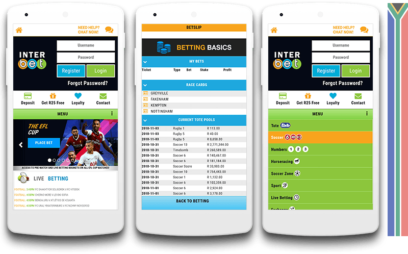 Interbet mobile view