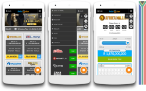 Lottostar mobile view