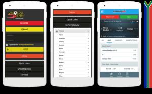 Scorebet mobile view