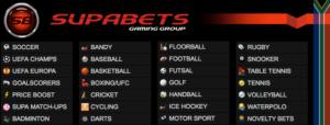 Supabets sport betting