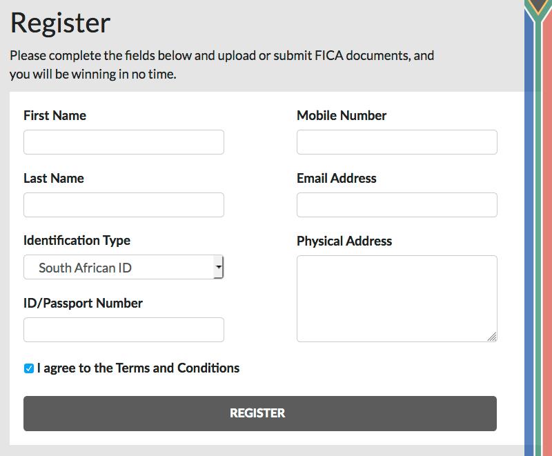 Topbet registration form