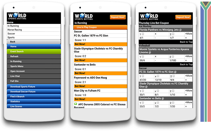 Worldsportsbetting mobile view