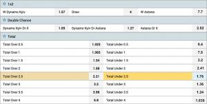 1xbet soccer odds
